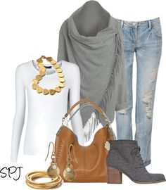 """""""Fringe Wool Cardigan"""" by s-p-j ❤ liked on Polyvore"""