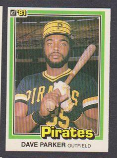 1981 Donruss Baseball Card 136 Dave Parker Pittsburgh Pirates   eBay