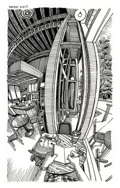 Paul Heaston, Denver artist with amazing sketches and architectural drawings