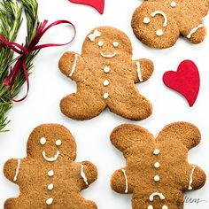 This sugar-free gingerbread cookies recipe uses just 5 ingredients plus a few spices. It's also low carb, paleo, and gluten-free.
