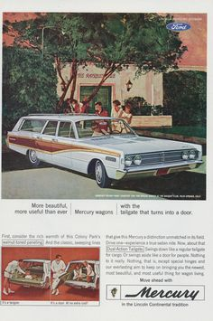 1966 Ford Mercury Station Wagon Ad Illustrated by AdVintageCom