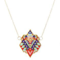 "Collier mi-long ethnique chic ""Aztec Colors"" : Collier par amy-jewels"