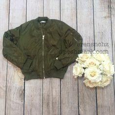 Kardashian Inspired Olive Green Bomber Jacket M ✨ Last medium! Kim Kardashian / Kylie Jenner inspired bomber jacket. Size M. Fits a small medium or a true medium. Ships next day. Will drop down price to $55. Jackets & Coats