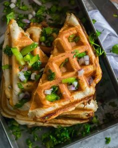 This Veggie Pizza Waffle recipe is a fun way to enjoy best of both worlds!