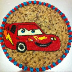 "A Cookie Cake tribute to "" Cars "" thanks to the team at Mrs. Fields Northland  http://www.mrsfields.com.au/delicious-treats/cookie-cake-designs/"