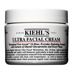 Kiehl's Ultra Facial Cream - 24 Hour, light-textured hydrator - Reduces moisture loss - Continuous water replenishment throughout day - Inspired by our original, Ultra Facial Moisturizer - Not tested on animals - ml or fl. Best Moisturizer, Moisturiser, Facial Cream, Skin Cream, Anti Aging Night Cream, Best Natural Skin Care, Natural Beauty, Kiehls, Perfect Skin