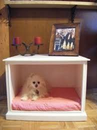 Resultado de imagem para end table dog bed