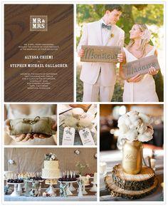 Burlap & rustic wedding theme