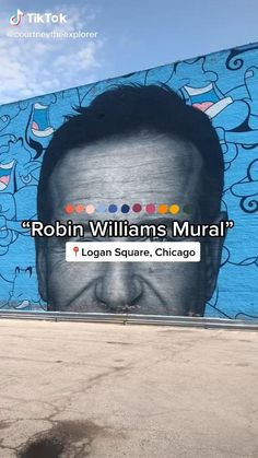 One of the best things to do in Chicago is explore all the street art. This Robin Williams Murals Street Art in Chicago, Illinois is one of my favorites!! Visit www.courtneytheexplorer.com for more Chicago Travel Guide and Things to do on a budget!! Chicago Art, Chicago Travel, Chicago Illinois, Chicago Neighborhoods, Murals Street Art, Local Events, Robin Williams, Free Things To Do, Beautiful Places To Visit