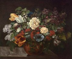 'Bouquet of flowers' Gustave Courbet