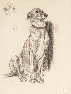 Briton Riviere, study for the dog in 'Requiescat' - means a prayer for the repose of the souls of the dead or rest in eternal peace.
