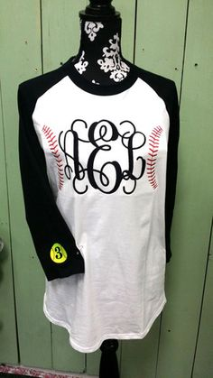 Monogram Baseball/ Softball Ringer T Shirt – shoptheexchange