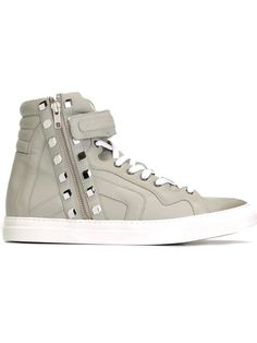 PIERRE HARDY Studded Hi-Top Sneakers. #pierrehardy #shoes #sneakers