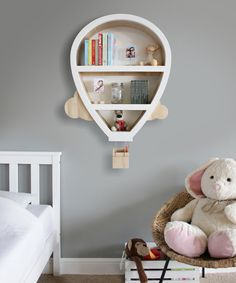 This unique balloon shaped feature wall shelf with cloud effect and usable hanging basket is perfect for your child's bedroom. Designed for easy i… - New sites Kids Bedroom Furniture, Baby Furniture, Furniture Design, Rustic Furniture, Lego Bedroom, Minecraft Bedroom, Children Furniture, Furniture Ideas, Modern Furniture