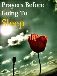 Prayers Before Going To Sleep