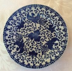 Vintage Porcelain Plate 7.25 Inches Blue by 88AsianAntiques