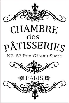 Patisseries- French House of Pastries 12x18 7.5 mil mylar stencil - French Stencil -