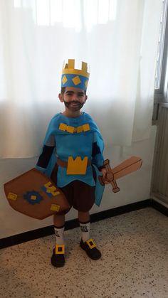 Disfraz del Rey Azul de Clase Royal hecho en casa