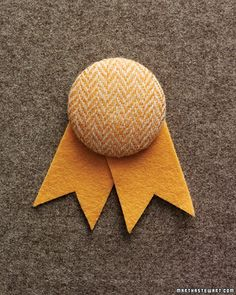 tweed covered boutonniere