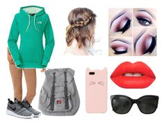 """""""NC 5 Date"""" by cahstylesd on Polyvore featuring moda, KUT from the Kloth, The North Face, NIKE, Lime Crime, Aéropostale, Herschel, Kate Spade e Chanel"""