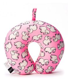 Take a look at this Little Honey Pink Elephant Travel Pillow by Baby on the Go Collection on #zulily today!