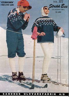 Bilderesultat for jotunheimen genser Norwegian Knitting, Icelandic Sweaters, Knitwear, Knitting Patterns, Diy And Crafts, Hipster, Retro, Handmade, Vintage