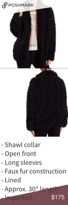 SALERomeo & Juliet CoutureOversized FauxFur Romeo & Juliet Couture Oversized Faux Fur Coat, Size M. New With Tag Romeo & Juliet Couture Jackets & Coats Trench Coats
