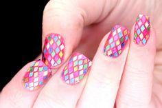 Polish All the Nails: Rainbow Glitter Snakeskin #nail #nails #nailart