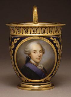 Cup (Tasse à Chocolat Ab),  decorated by Sophie Debon (active 1816–24); after a miniature painting of 1819 by Marie-Victoire Jacquetot (1772–1855) - Sèvres, Hard paste porcelain - Date: 1822–23.