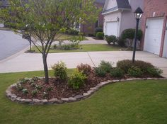 Mower Maintenance for a Perfect Lawn Landscape Edging Stone, Stone Edging, Landscape Borders, Garden Front Of House, House Front, Landscaping Supplies, Fence Landscaping, Landscape Materials, Garden Edging
