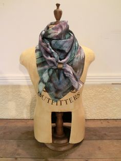 How to wear scarves.   SS13 collection 'mental' Blue with our scarf ring