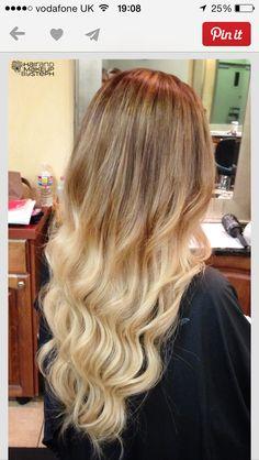 Blonde dip dye wedding idea
