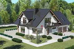 Projekt domu Dom przy Cyprysowej 15 K6 Beautiful House Plans, Beautiful Homes, Bungalow Style House, Harrison House, Classic House Exterior, House Architecture Styles, House Design Pictures, Architectural House Plans, Home Fashion