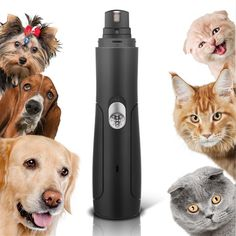 Amazon.com : WOLFWILL Rechargeable Pet Nail Grinder Electric Dogs Paw Electric Trimmer Clipper for Cats, Hamsters, Rabbits and Birds(USB Charging) : Pet Supplies