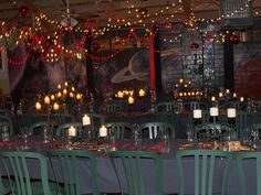 christmas lights, candles, and lovely dark ambient lighting, from Juniperone, via Flickr