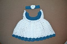 Free Crochet Baby Dress Patterns | Crochet and Craftings: Angel Wing Dress and Headband
