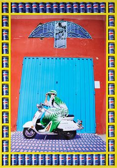 British-Moroccan photographer Hassan Hajjaj has been out on the open road with Marrakech's bike gangs | Nisrin | Photograph: Hassan Hajjaj/Taymour Grahne Gallery, NY