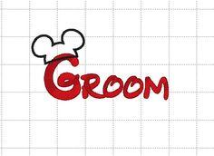 Mickey Mouse Groom Disney Married Hat by LauraBethDesignsLLC