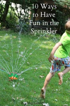 10 ways to have even more fun in the lawn sprinkler