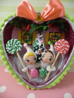chickitout (etsy) Sweet Gumdrop Pixies Sweet on You Ornament