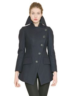 VIVIENNE WESTWOOD ANGLOMANIA - ASYMMETRIC WOOL CLOTH COAT - LUISAVIAROMA