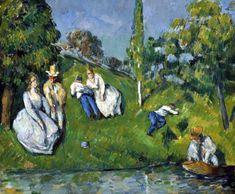 """Paul Cézanne, """"El Estanque"""" Cuadro al óleo titulado El estanque, pintado por Paul Cézanne en 1878. El lienzo presenta un típico paisaje francés del siglo XIX, a orillas del río en un entorno campestre."""