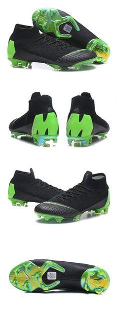 best sneakers fbf01 2ab97 Nike Mercurial Superfly VI 360 Elite FG Top Cleats - Black Green