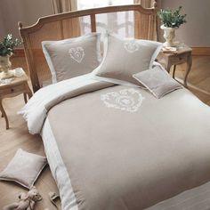 Duvet 240 x 260 cm beige cotton CAMILLE | Houses of the world