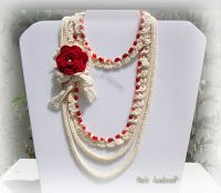 Tina's handicraft : crochet and knitting necklace ,gift ideas, red flo...