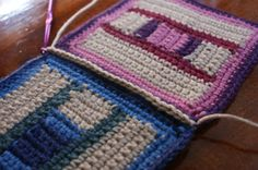 How to Single Crochet Join Squares via @aboutcrochet