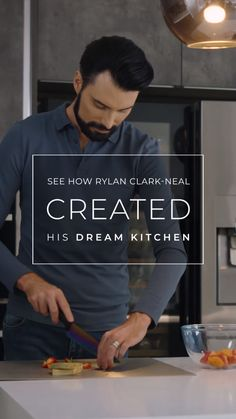 Rylan's Dream Kitchen TV personality Rylan Clark-Neal enjoyed working with us to create his luxuriou Open Plan Kitchen Diner, Tv In Kitchen, Open Plan Kitchen Living Room, Diy Kitchen Cabinets, Home Decor Kitchen, Modern Kitchen Interiors, Luxury Kitchen Design, Luxury Kitchens, Modern House Design