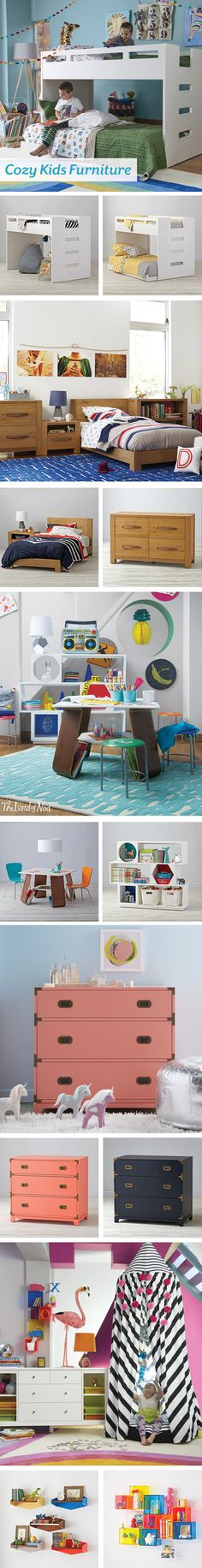 Refresh your kids bedroom with our new spring furniture collection. Our lineup of stylish kids furniture features tons of picks for the playroom or workspace. But if your girl or boy's bedroom needs an update, start with a bed as a focal point. A bunk bed, trundle bed or classic twin bed will get the job done. Then, add a dresser and bookcase for more storage options. And, if you need even more space, a toy box and bench will hold all of their favorite essentials.