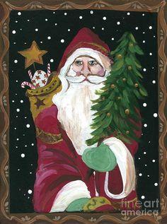 folk art santa - Google Search