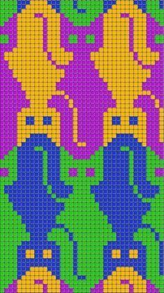 Make Mend Amend: Make: Tessellating Cat Blanket Gato Crochet, Crochet Cross, Crochet Chart, Cross Stitch Charts, Cross Stitch Designs, Cross Stitch Patterns, Knitting Charts, Knitting Patterns, Pin Weaving